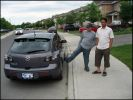 The final pics: Harry and Sikander. Why did you have to kick the car man!